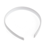B1263WH Headband: Cotton Covered: 16mm: Pack of 24: White